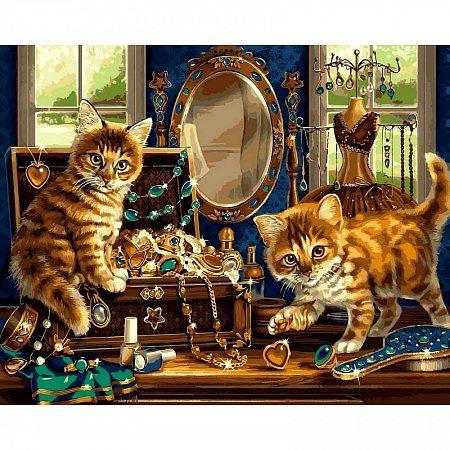 Картина по номерам Шкатулка с драгоценностями 40х50см, Babylon VP462