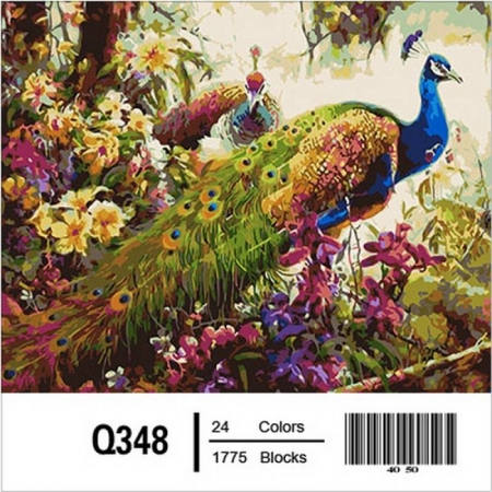 Картина по номерам Сказочные павлины 40х50см, Mariposa Q348