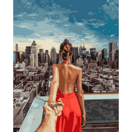 Картина по номерам Следуй за мной. Нью-Йорк. Мурад Османн 40х50см, Babylon VP709