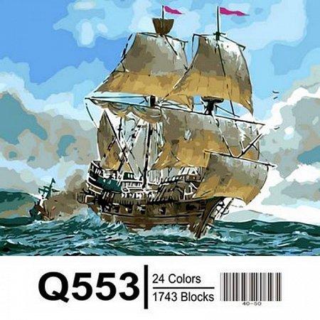 Картина по номерам Сражение кораблей 40х50см, Mariposa Q553