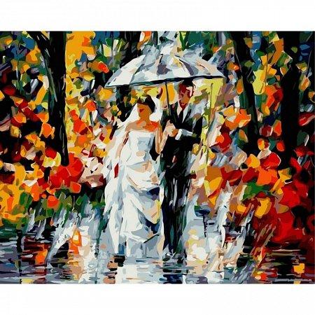 Картина по номерам Свадьба под дождем 40х50см, Babylon VP080
