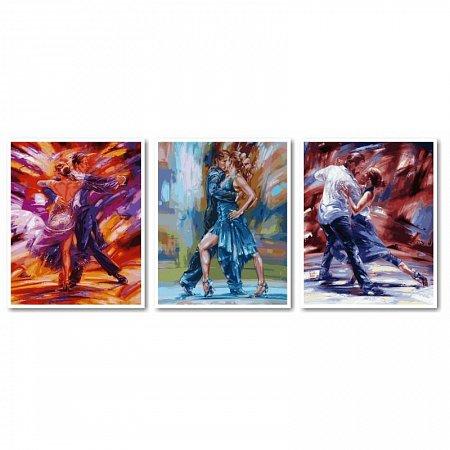 Картина по номерам Танец страсти. Триптих 120х50см, Babylon VPT011