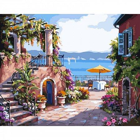Картина по номерам Тихий дворик 40х50см, Babylon VP214