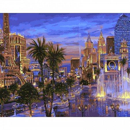 Картина по номерам Вечер в Вегасе 40х50см, Babylon VP036