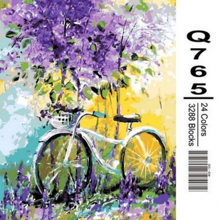 Картина по номерам Велосипед в зарослях лаванды 40х50см, Mariposa Q765
