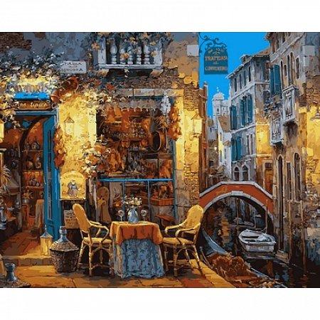 Картина по номерам Венецианское кафе 40х50см, Babylon VP642
