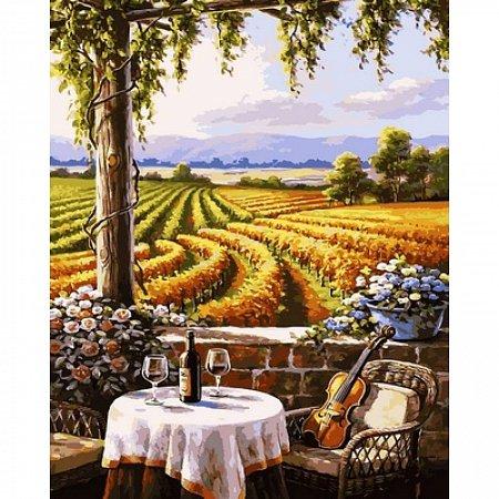 Картина по номерам Вид на виноградники 40х50см, Babylon VP671