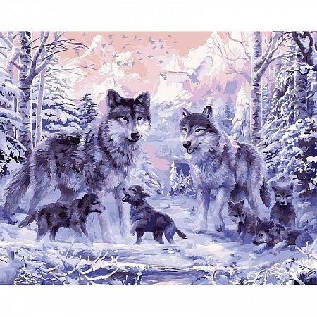 Картина по номерам Волчье семейство 40х50см, Babylon VP466