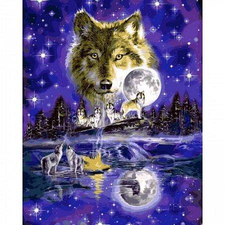 Картина по номерам Волчья луна 40х50см, Babylon VP623