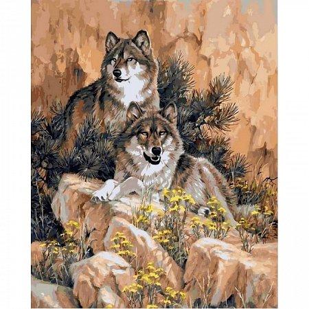 Картина по номерам Волки 40х50см, Babylon vp345