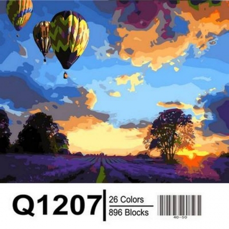 Картина по номерам Закат над лавандовым полем 40х50см, Mariposa Q1207