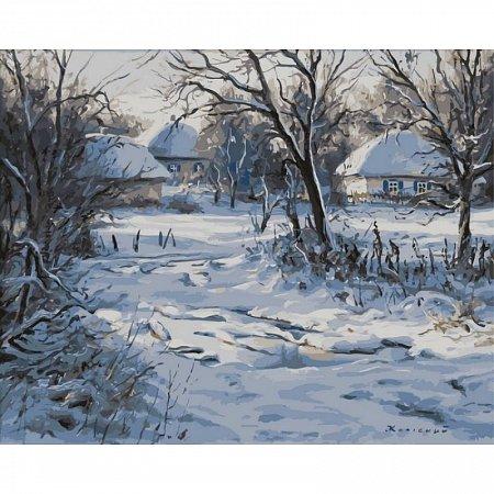 Картина по номерам Зима. Хатки 40х50см, Babylon vp357