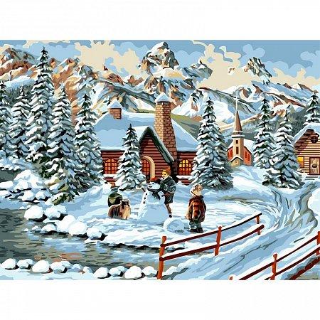 Картина по номерам Зимние каникулы 30x40см, Babylon VK136