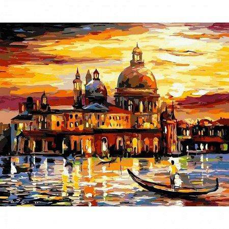 Картина по номерам Золотое небо Венеции 40х50см, Babylon VP073