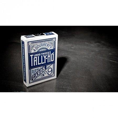 Карты Tally-Ho CircleBack Titanium Blue от theory11