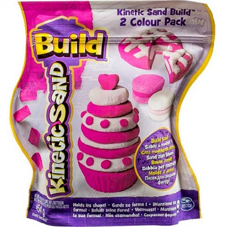 Kinetic Sand Build - песок для творчества, белый и розовый, 2х227г, Wacky-tivities, 71428WPn