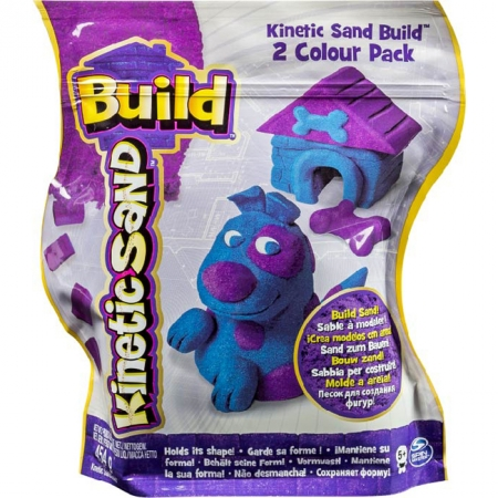 Kinetic Sand Build - песок для творчества, фиолетовый и синий, 2х227г, Wackytivities (71428BP)