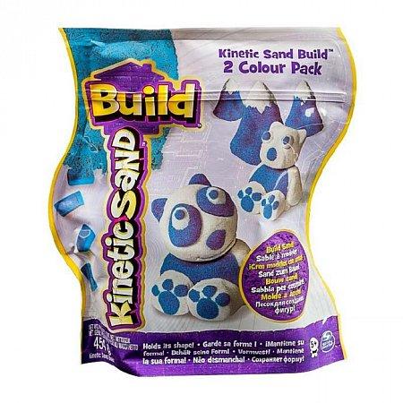 Kinetic Sand Build - песок для творчества, синий и белый, 454 г, Wacky-tivities, 71428WB
