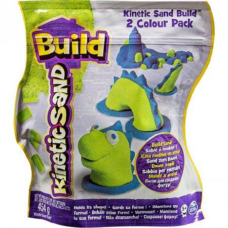 Kinetic Sand Build - песок для творчества, зеленый и голубой, 2х227г, Wackytivities (71428GrB)