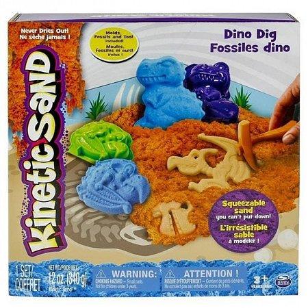 Kinetic Sand Dino - песок для творчества, коричневый, голубой, 340 г, Wacky-tivities, 71415Dn