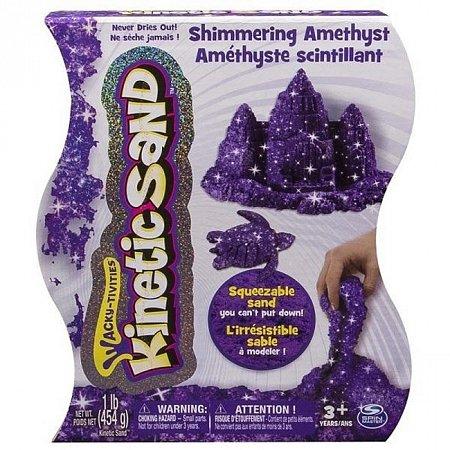 Kinetic Sand Metallic - песок для творчества, фиолетовый, 454 г, Wackytivities (71408Am)