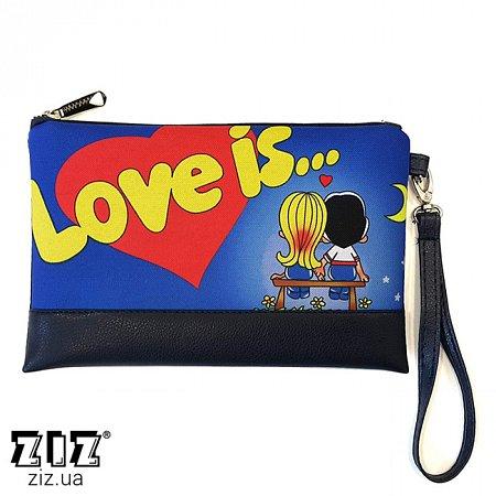 Клатч цветной Love is, ZIZ-25029