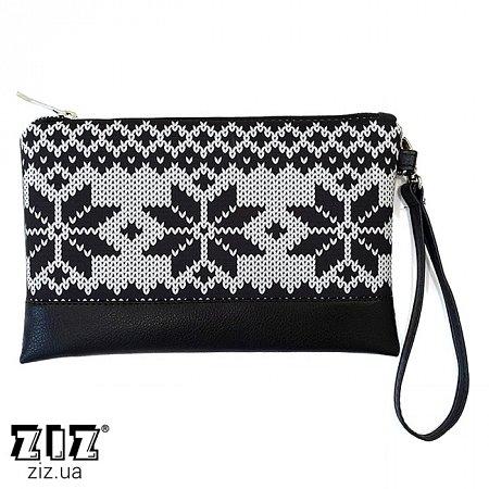 Клатч цветной Снежинки, ZIZ-25028