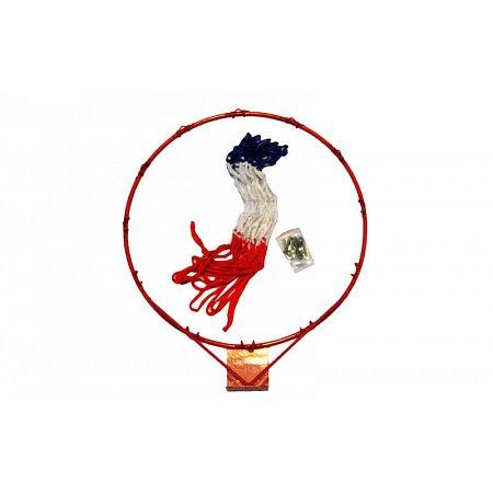 Кольцо баскетбольное C-1810 (d кольца-45см, d трубы-8мм, в компл.кольцо-металл, сетка-нейлон, болты)