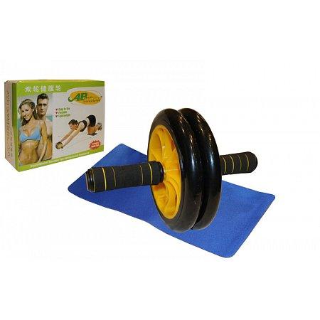 Колесо-триммер двойное FI-4378 (WT-E16) (d колеса-19см, пластик, силикон, ручка-неопрен, с ковриком)
