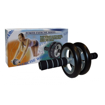 Колесо-триммер двойное PS DB-701 (d колеса-17см, металл, пластик, резина, ручка-неопрен)