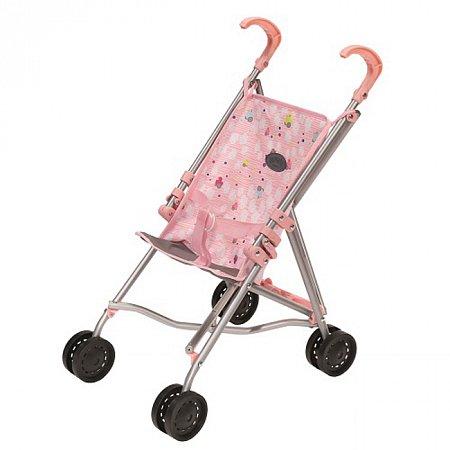 Коляска для куклы Baby Born (светло-розовая складная), Zapf, 822302