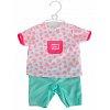 Комбинезон с мятными штанишками и аксессуары для пупса 38-43 см, New Born Baby, Simba, 540 1631-2