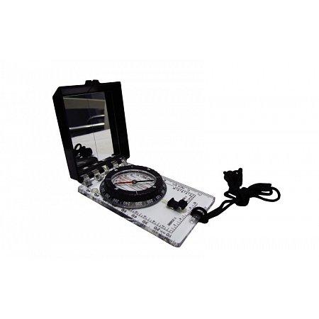 Компас жидкостный планшетный в закрытом корпусе с зеркалом DC45-6C (d-55мм, пластик, р-р 100х63мм)