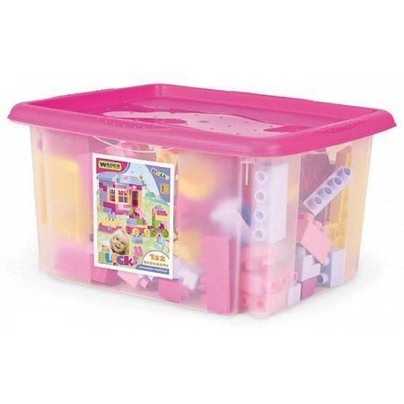 Конструктор 132 элемента в коробке (для девочек), Wader, 41280