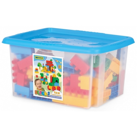 Конструктор 132 элемента в коробке, Wader, 41270