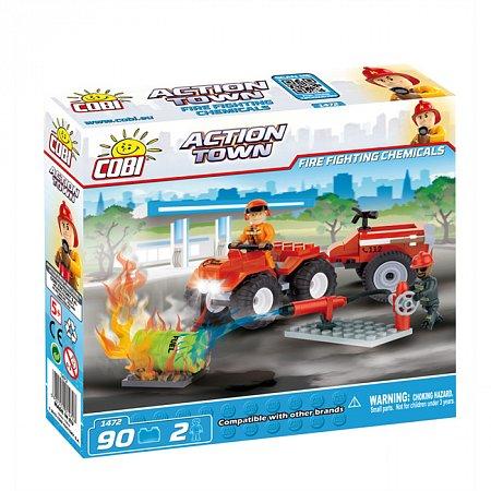 Конструктор COBI Пожарный квадроцикл, 90 деталей (COBI-1472)