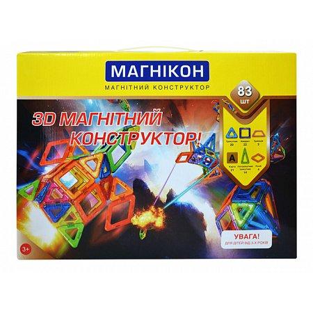 Конструктор магнитный Магникон, 83 детали, МК-83