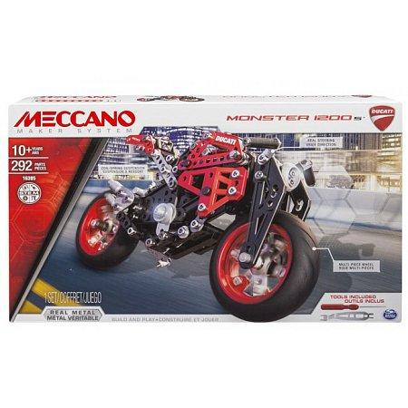 Конструктор металлический Мотоцикл Ducati Monster 1200 S, Meccano, 6027038