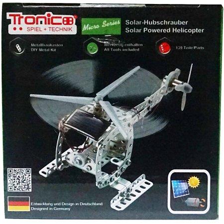 Конструктор металлический Вертолет на солнечной батарее (139 дет.), Tronico, 9605-3