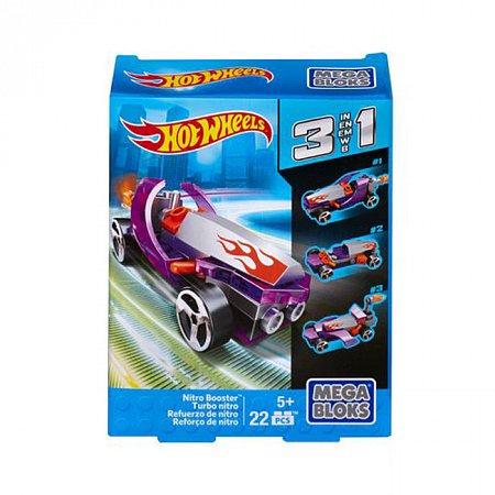 Конструктор Nitro Booster, Серия Hot Wheels, 22 дет. Mega Bloks, Nitro Booster, CNF33-5