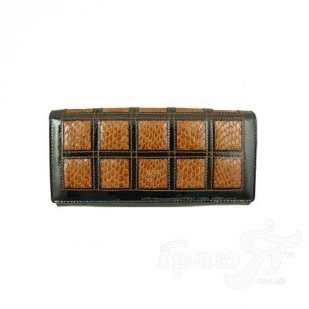 Кошелек женский кожаный WANLIMA (ВАНЛИМА) W110447400132light-coffee