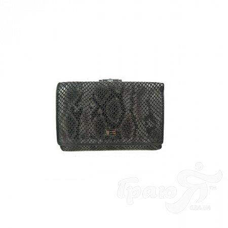 Кошелек женский кожаный WANLIMA (ВАНЛИМА) W11045380430-black-gray