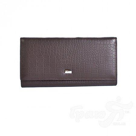Кошелек женский кожаный WANLIMA (ВАНЛИМА) W62043790041-coffee