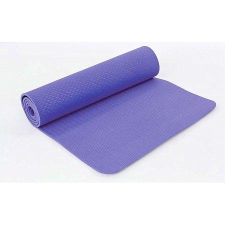 Коврик для фитнеса и йоги TPE+TC 6мм FI-6336-3 (1,83м x 0,61м x 8мм, сиреневый)