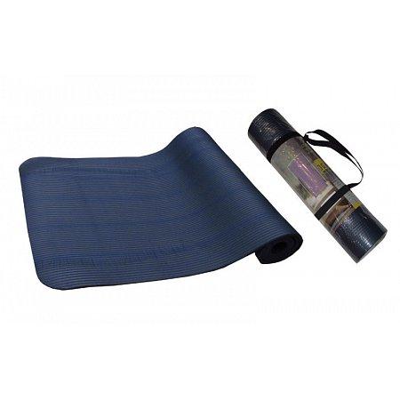 Коврик для фитнеса, каремат NBR 8мм с фиксирующей резинкой YG-2778 (1,83м x 0,61м x 8мм, синий)