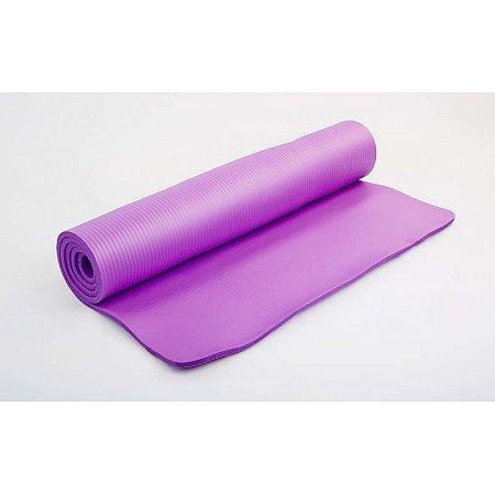 Коврик для фитнеса, NBR 10мм с фиксирующей резинкой FI-3357-V (р-р 1,83мх0,8мх10мм, сиренев)