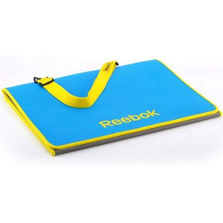 Коврик для фитнеса Reebok, 130x58см x 6мм, Tri-Fold Cyan, RAMT-40021CY