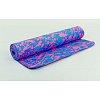 Коврик для фитнеса Yoga mat 1-сл. TPE 5мм мультиколор FI-3039-1 (1,73м x 0,61м x 5мм,син-роз-фиолет)
