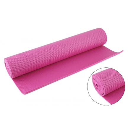 Коврик для фитнеса Yoga mat PVC 4мм FI-4986-1 (1,73м x 0,61м x 4мм, розовый)