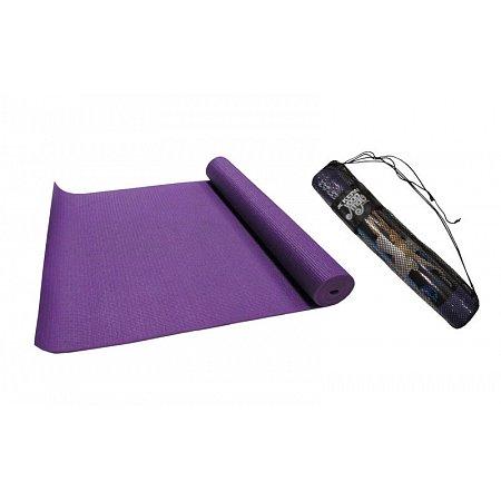 Коврик для фитнеса Yoga mat PVC 4мм с чехлом KEPAI YG-04 (1,73м x 0,61м x 4мм, PL,синий, фиолет)